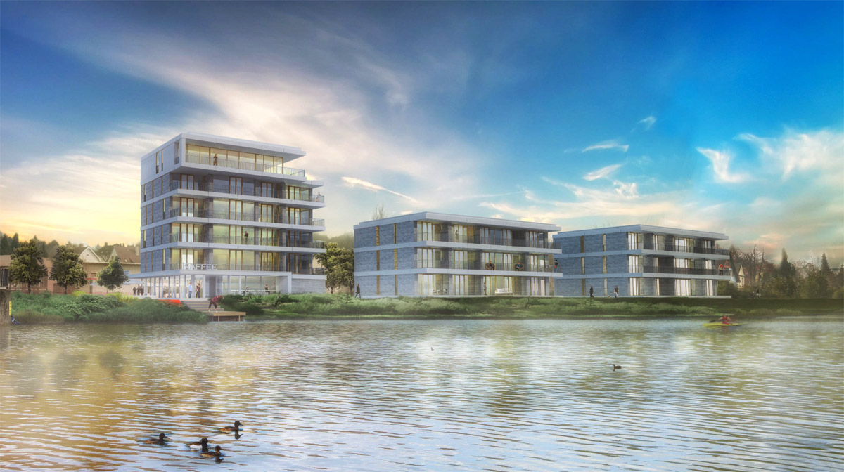 Stadthäuser am Werre-Ufer
